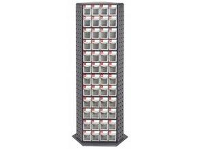 Otočný kovový dílenský organizér s 144 zásuvkami - RFO-8144