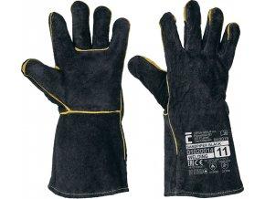 Svářečské rukavice SANDPIPER BLACK, celokožené, balení 12 ks (Velikost 11)