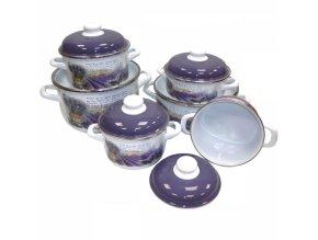 Metalac Levandule, smaltovaný čajník s poklicí 20 cm, 2,5 l