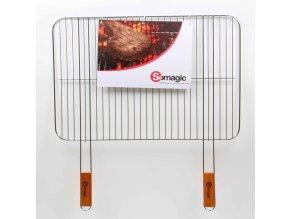 Somagic, Jednoduchá chromová grilovací mřížka 60 x 40 cm