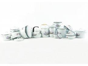 Olymp Levandule, smaltovaná miska 18 cm, výška 6,5 cm, 1 l