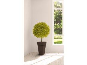 Gardino, Květináč MELROSE, průměr 40 cm, výška 51 cm, hnědý