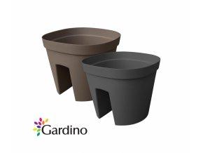 Gardino, balkónový květináč MONACO 30 cm, 10 l, hnědý