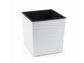 LAMELA, květináč JUKA DLUTO-vroubek 300 x 300 mm, bílý