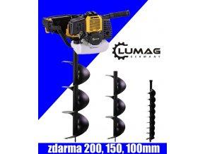 Půdní, zemní vrták - jamkovač Lumag EB 520G  Půdní vrták