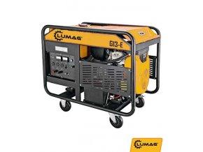 Benzínový generátor Lumag G13E  Benzínový synchronní generátor s 100% měděným vinutím