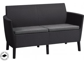 SALEMO 2 seater sofa - grafit