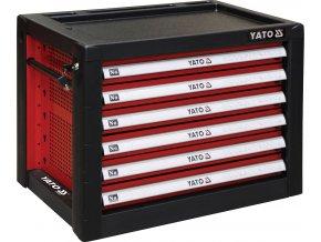 Skříňka dílenská 6 zásuvky 690x465x535mm červená