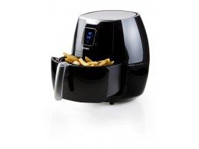 Horkovzdušná fritéza 5,5 l - digitální - DOMO DO513FR, Objem 5,5 l, Příkon: 1800 W, Vyjímatelný fritovací koš s nádobou