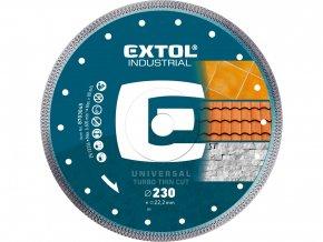 kotouč diamantový řezný, turbo Thin Cut, suché i mokré řezání, O 230x22,2x2mm