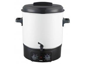 Zavařovací hrnec elektrický, smalt s kohoutem - DOMO DO322W
