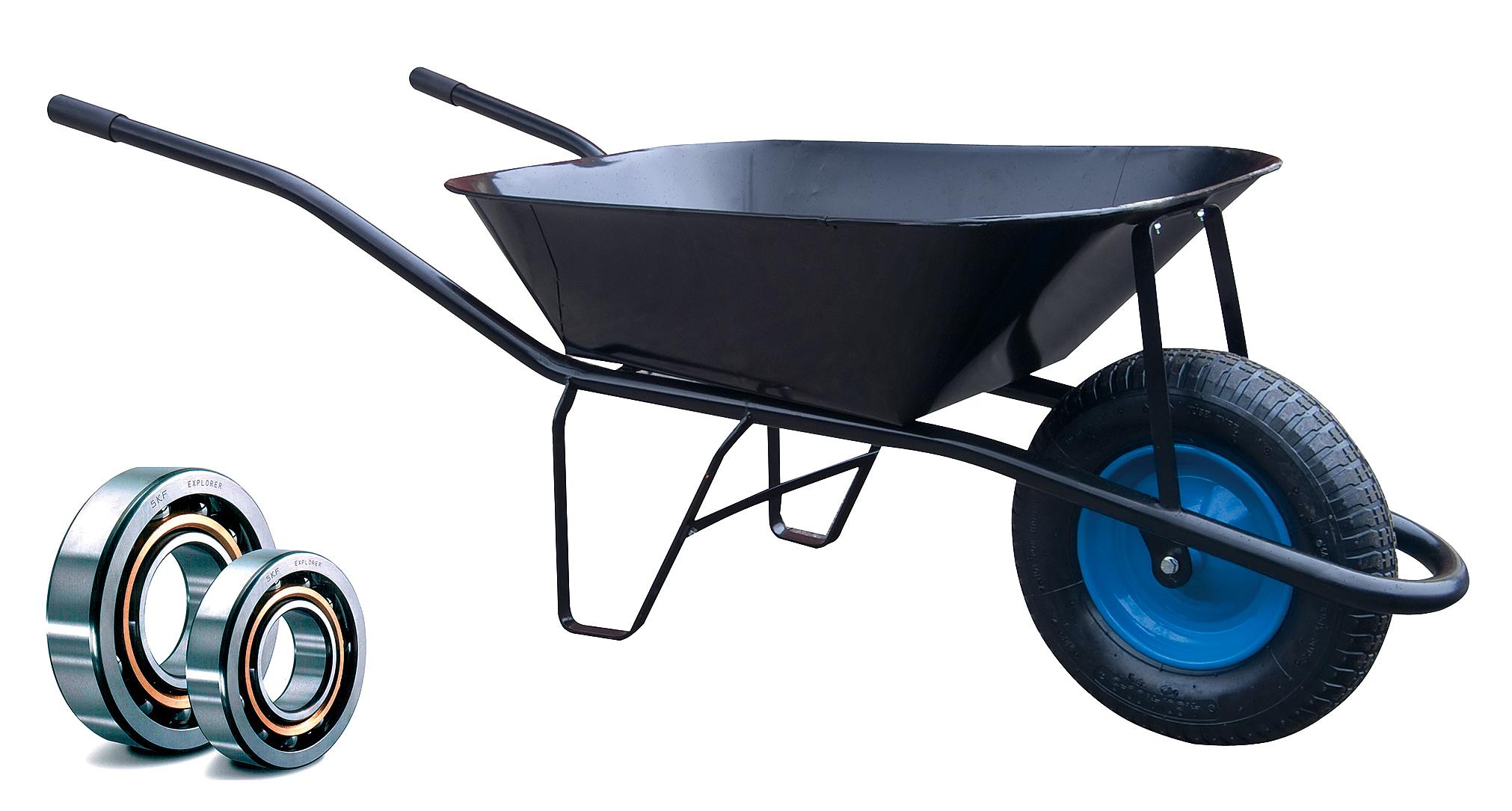 HTI Stavební kolečko PROFI 60l s nafukovací pneumatikou KULIČKOVÁ LOŽISKA KSL03