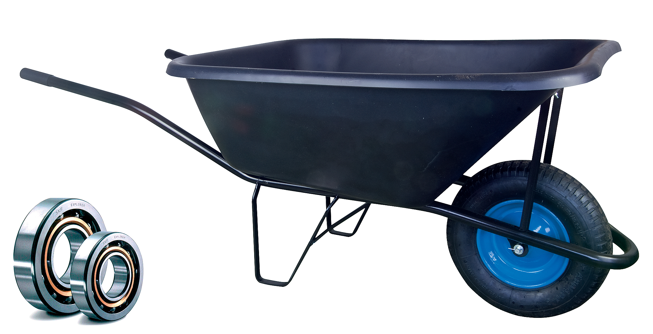 HTI Zahradní kolečko PROFI 120l s nafukovací pneumatikou KULIČKOVÁ LOŽISKA KZL07