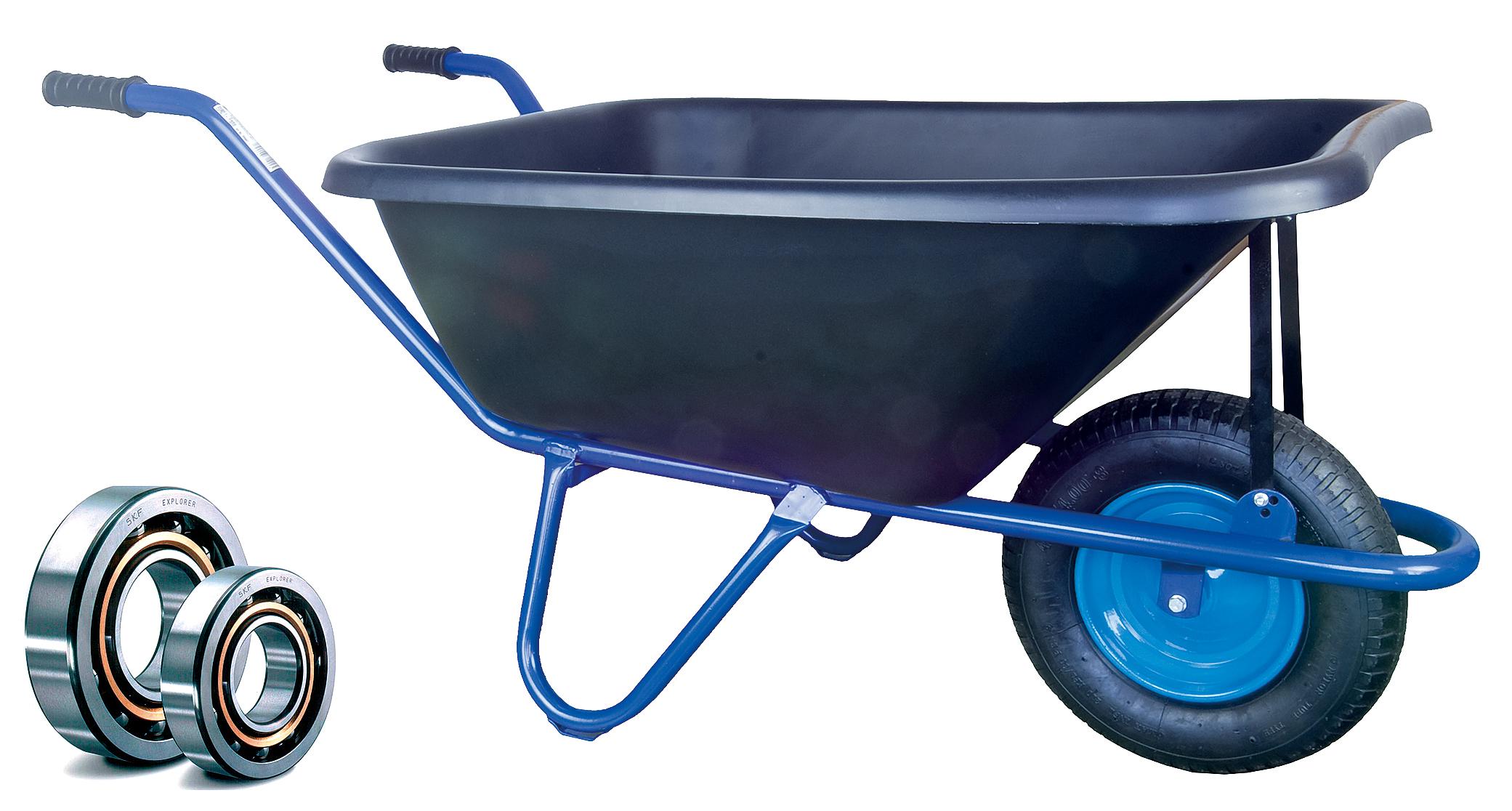HTI Zahradní kolečko PROFI 120l EURO rám s nafukovací pneumatikou KULIČKOVÁ LOŽISKA KZL08
