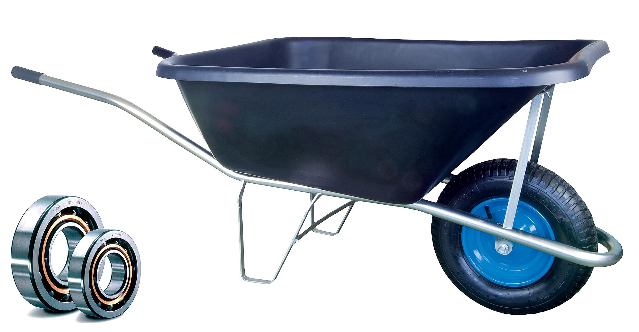 HTI Zahradní kolečko PROFI 120l s pozinkovaným rámem a nafukovací pneumatikou KULIČKOVÁ LOŽISKA KZL09