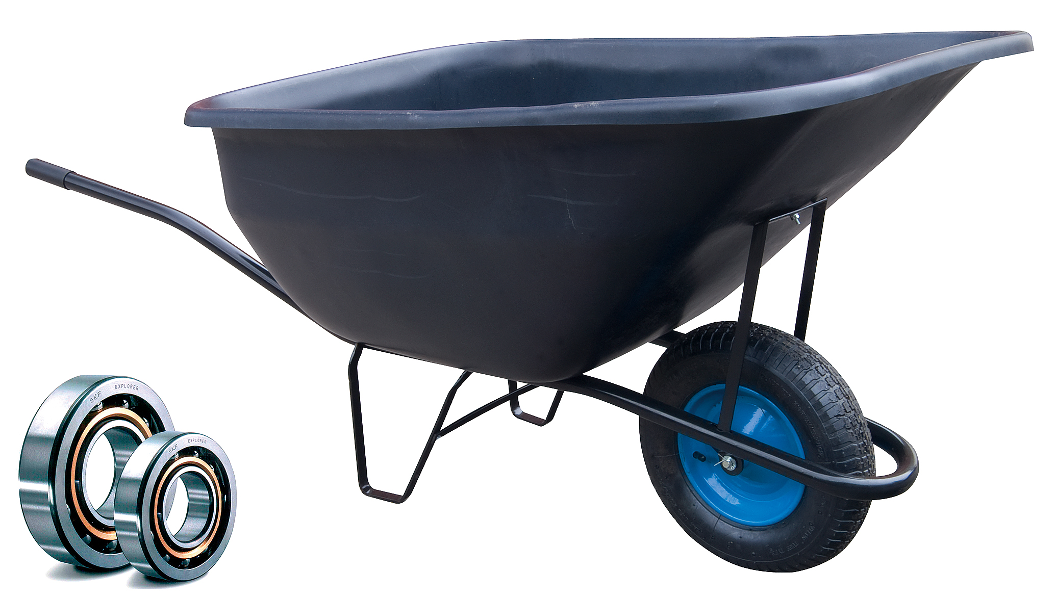 HTI Zahradní kolečko PROFI 180l s nafukovací pneumatikou KULIČKOVÁ LOŽISKA KZL11