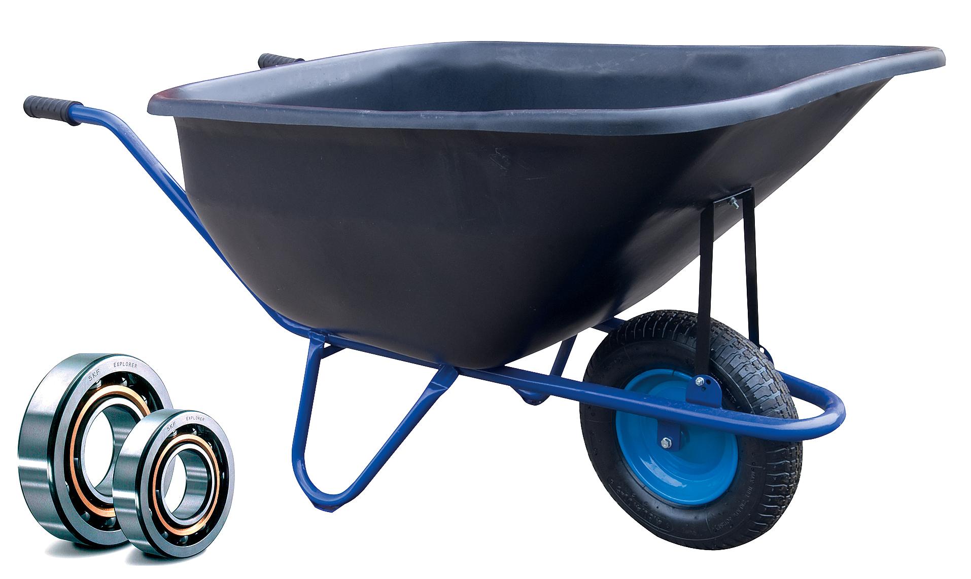 HTI Zahradní kolečko PROFI 180l EURO rám s nafukovací pneumatikou KULIČKOVÁ LOŽISKA KZL12