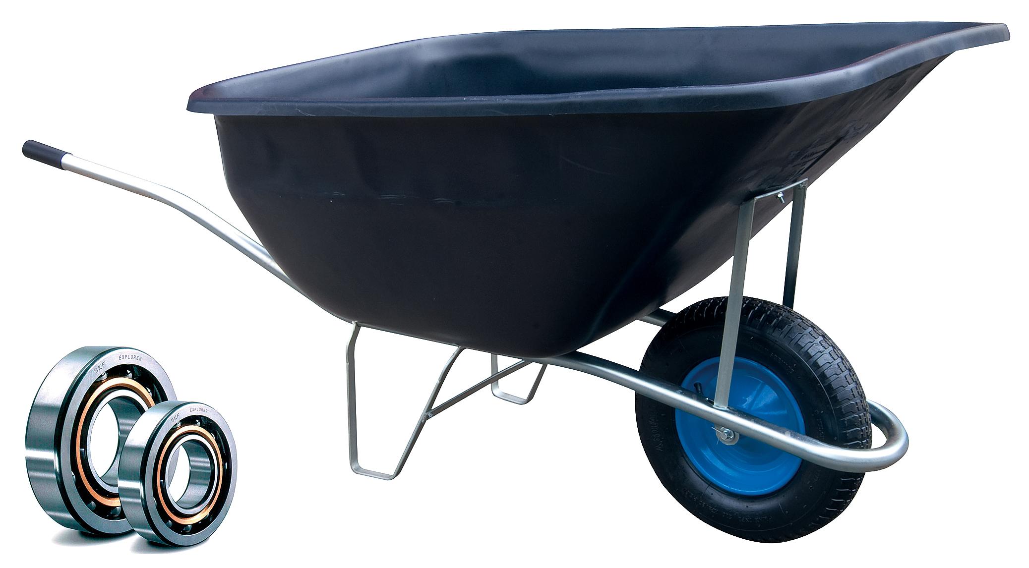 HTI Zahradní kolečko PROFI 180l s pozinkovaným rámem a nafukovací pneumatikou KULIČKOVÁ LOŽISKA KZL13