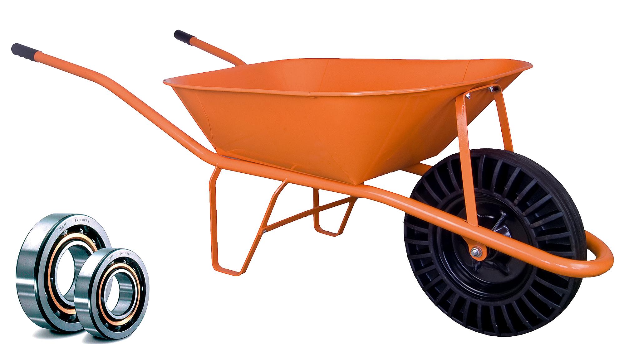 HTI Stavební kolečko PROFI 60l oranžové bantam LOŽISKA KSLB02 Ložisko v kole: Kuličkové