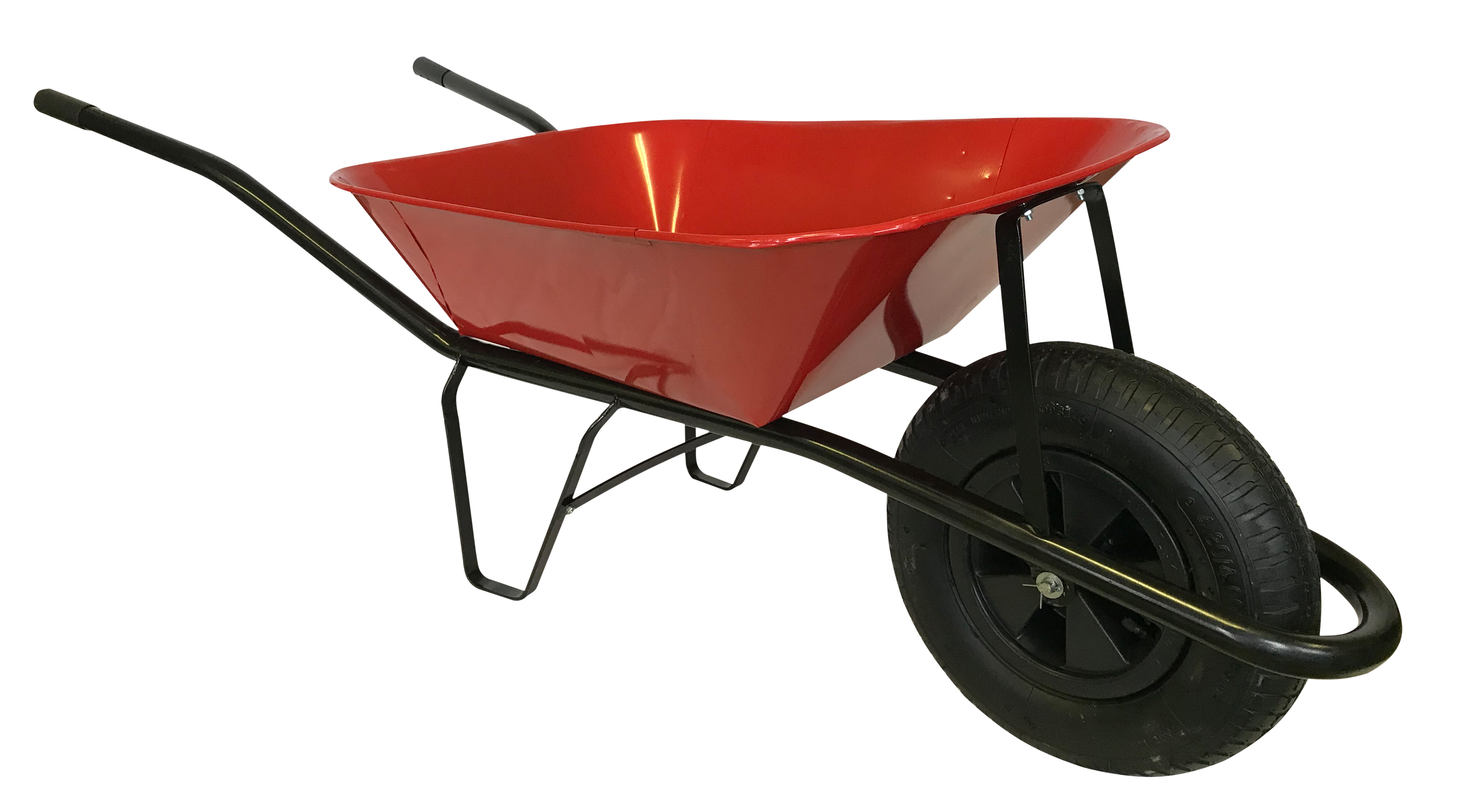 HTI Stavební kolečko 60l s nafukovací pneumatikou červené