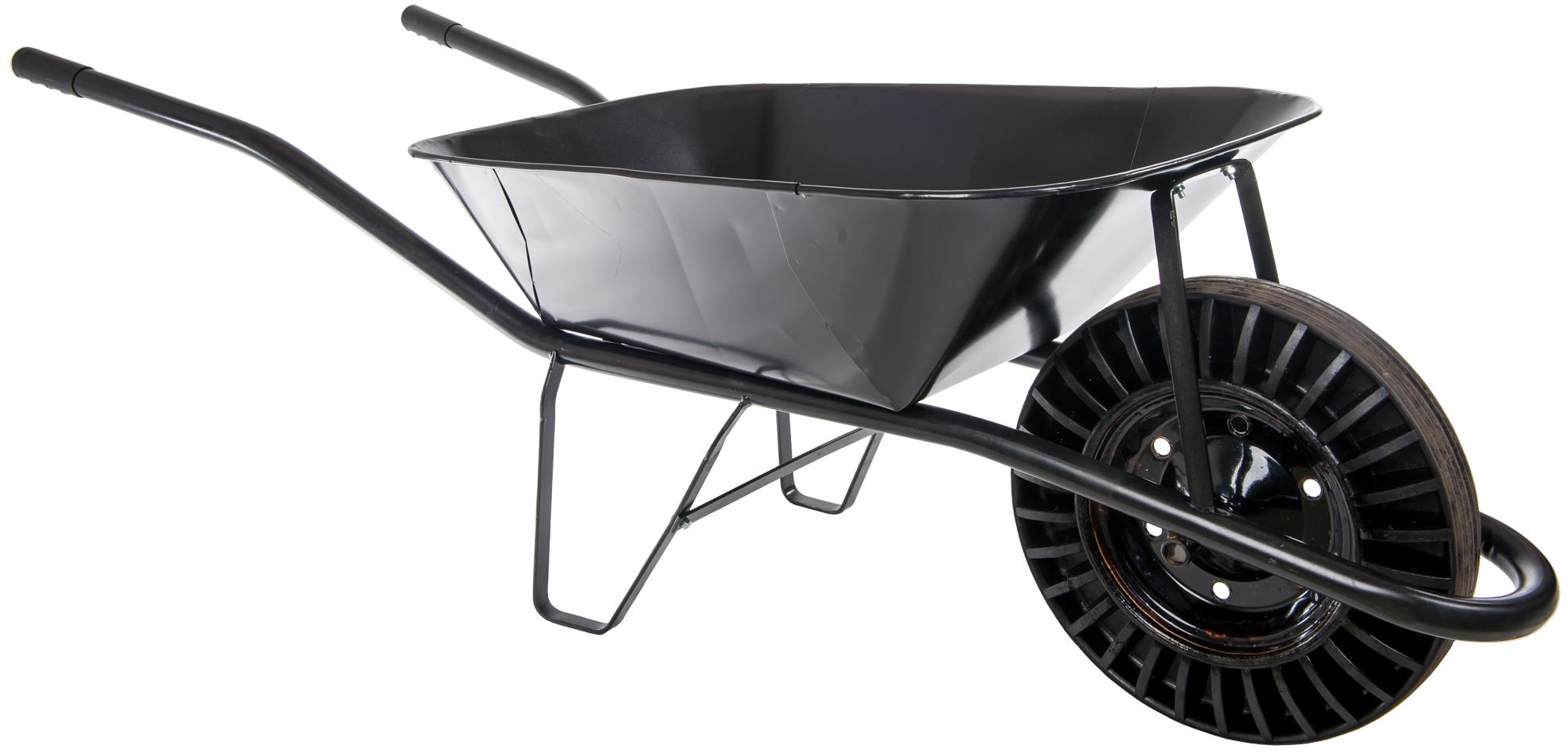 Stavební kolečko 60l černé plné kolo