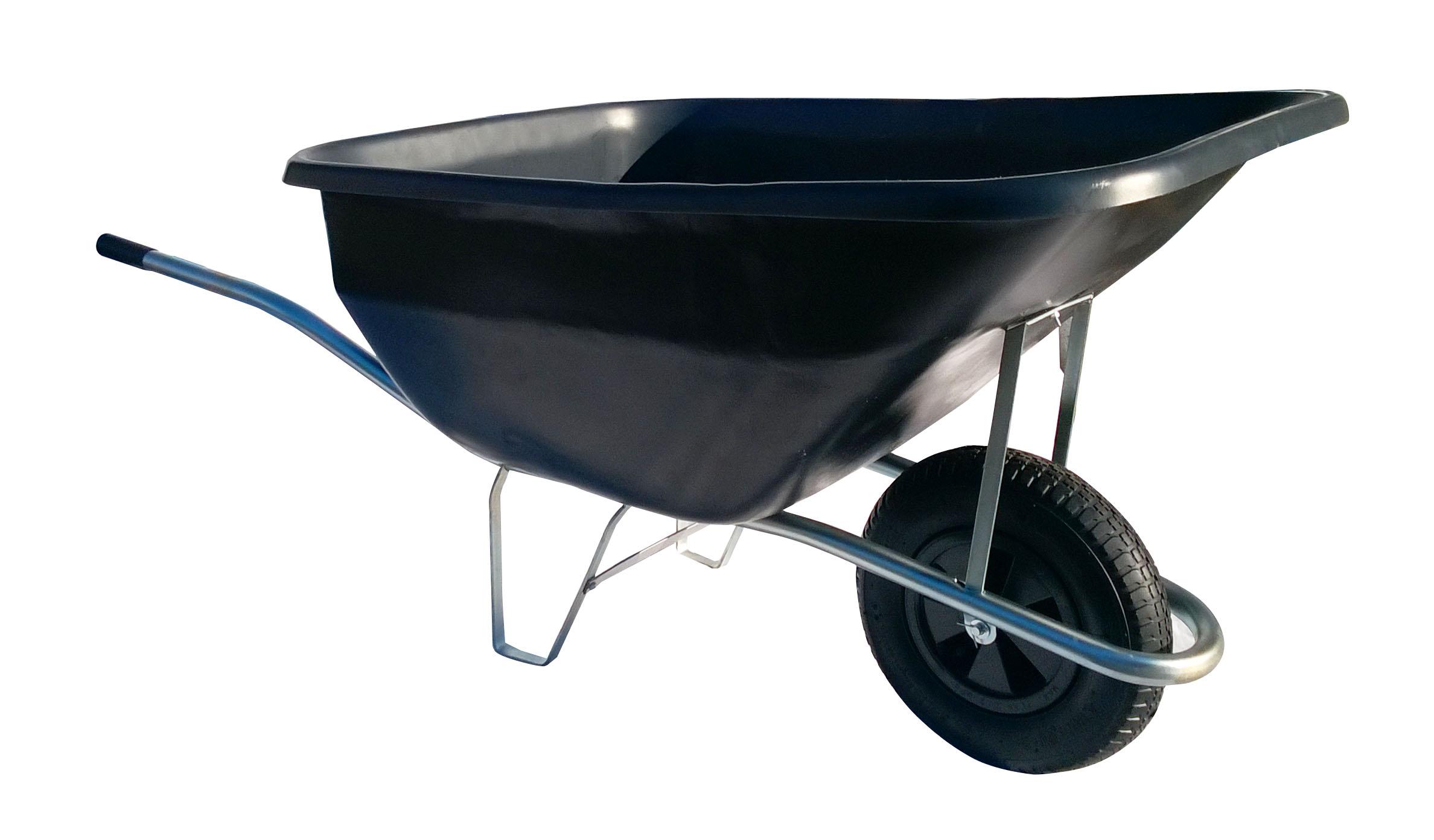 HTI Zahradní kolečko 180L s nafukovací pneumatikou a pozinkovaným rámem KZ12