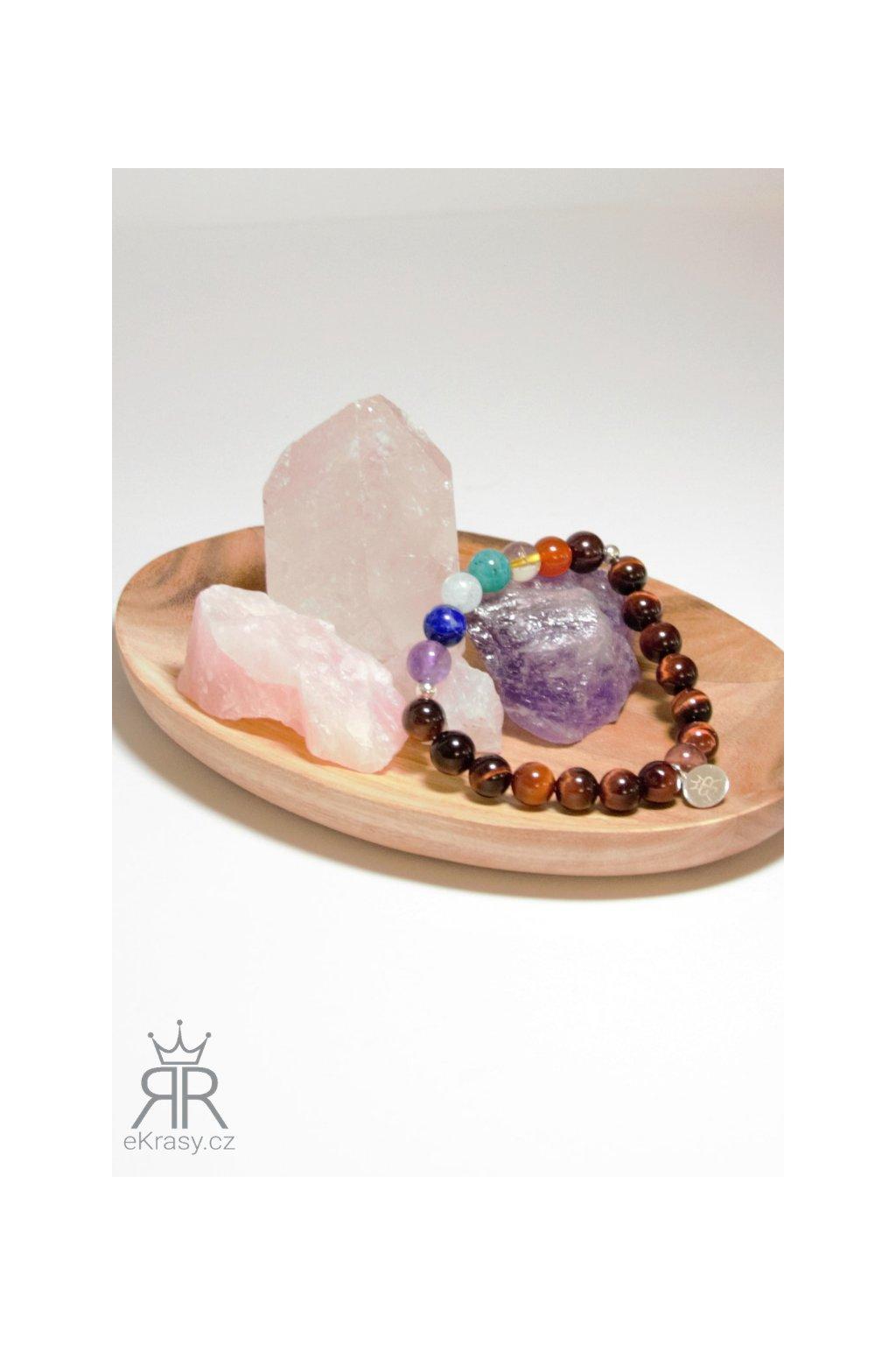 eKrasy náramek Čakry Lima s kameny - krásný náramek z přírodních materiálů