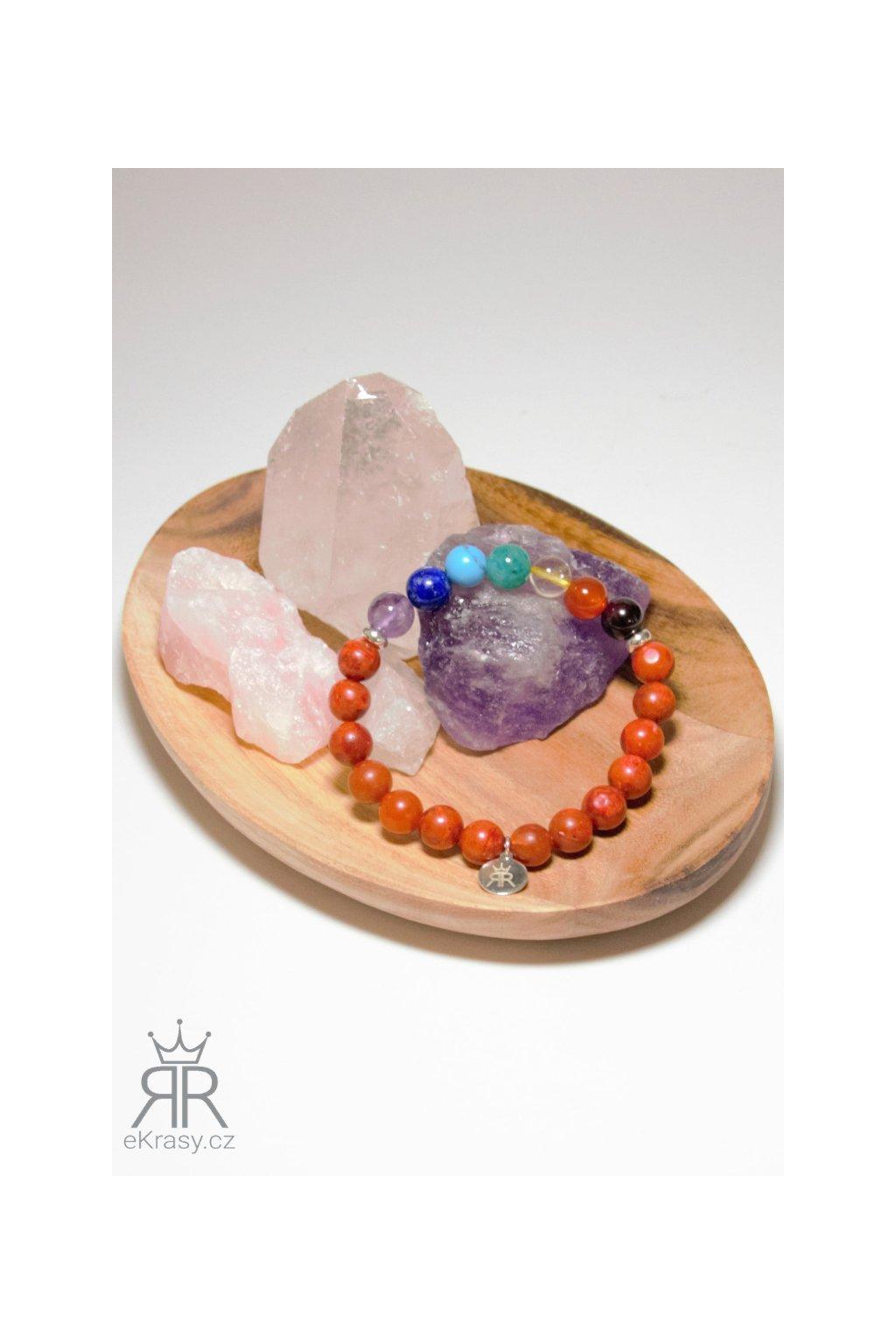 eKrasy náramek Čakry Enam s minerálními kameny - krásný dámský čakrový náramek pro ženy