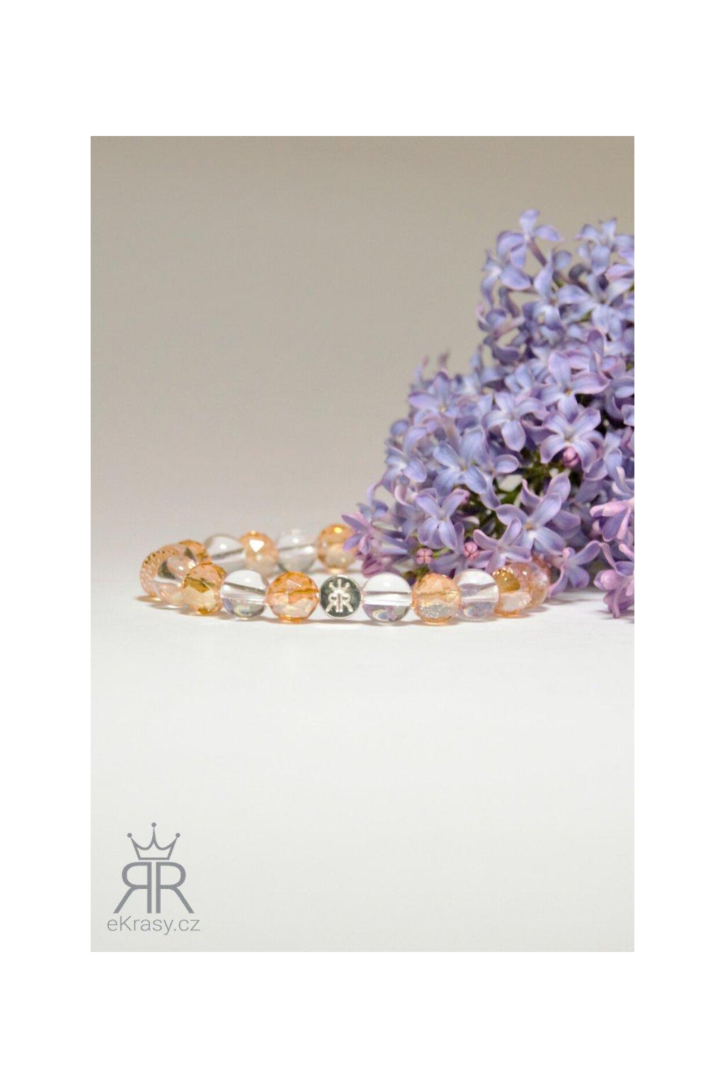 eKrasy náramek Úsměv pro maminky - luxusní náramek z křišťálu