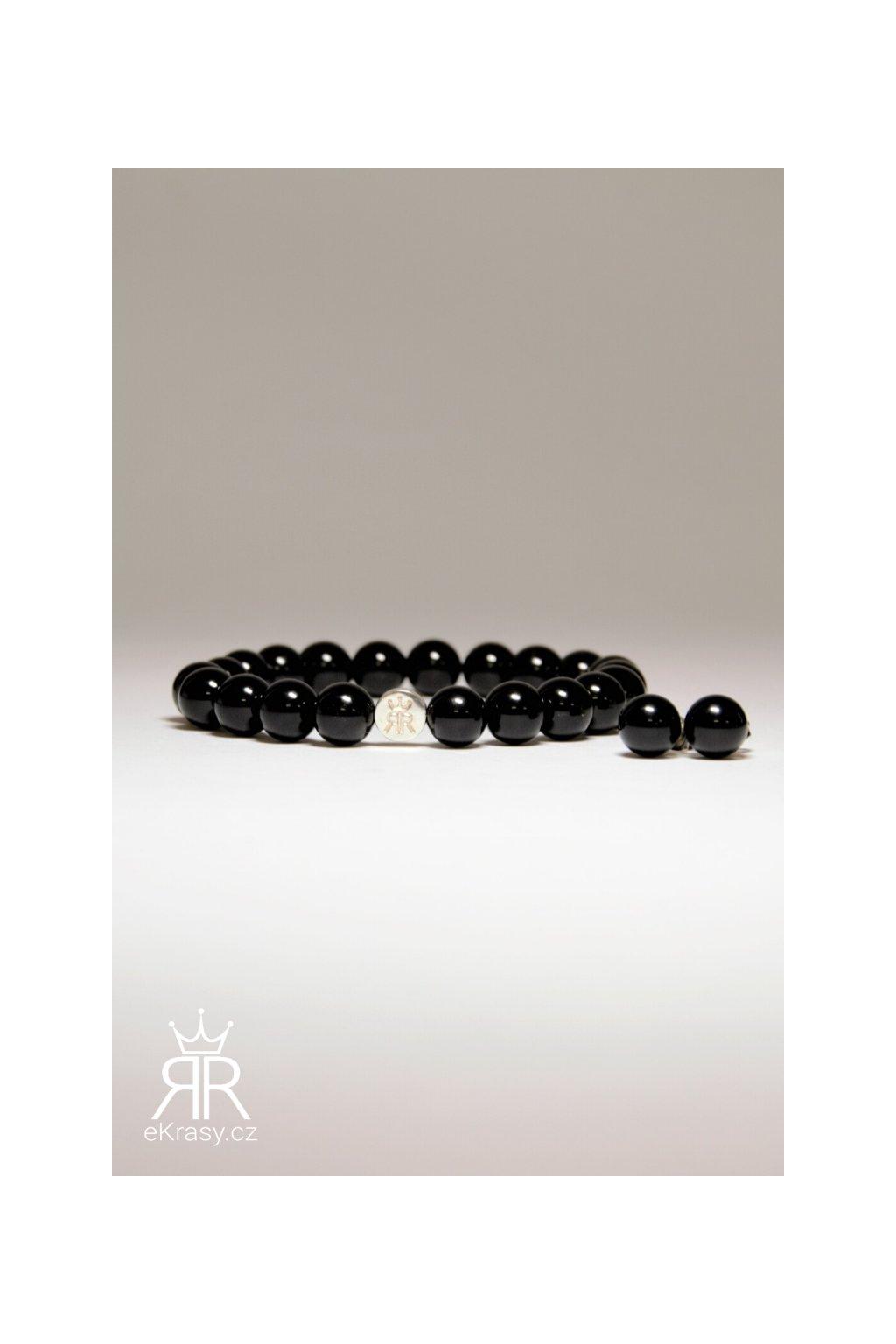 eKrasy sada Kristýna - krásný dárek černý náramek a náušnice