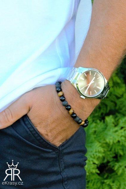 eKrasy náramek Zefyros - krásný dárek pro muže kombinace s hodinkami