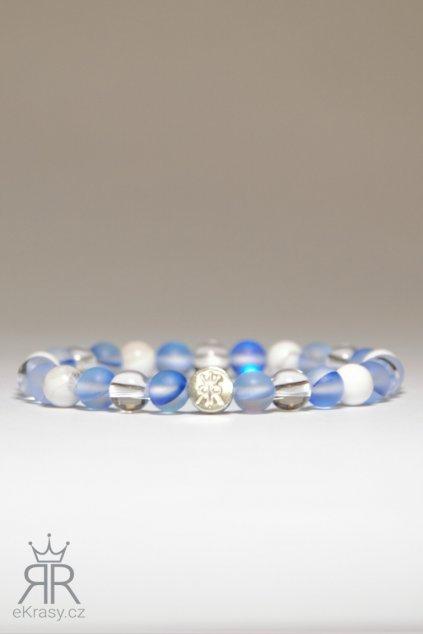 eKrasy náramek Moře a kamínky - krásný dárek z magnezitu, opalitu a křišťálu