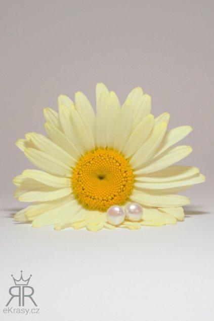eKrasy náušnice Perly říční bílé