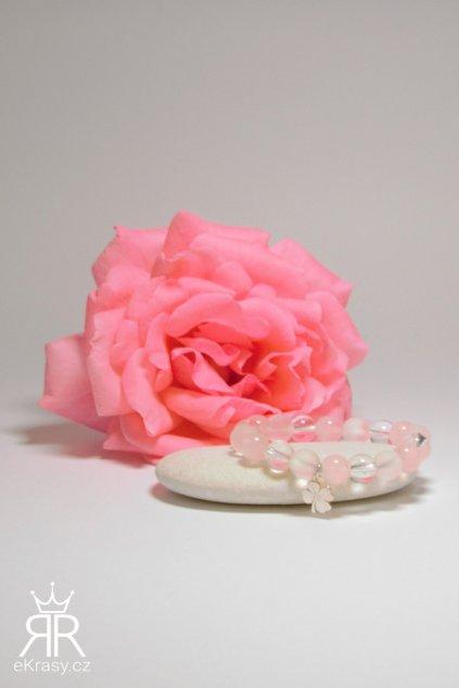 eKrasy náramek Šťastná princezna - ideální dárek pro holčičku, přírodní materiál