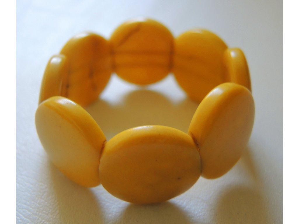 Náramek dětský lentilky žlutý