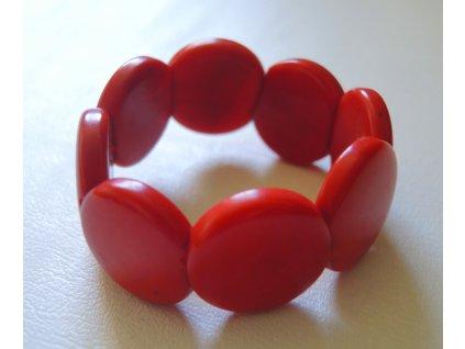 Náramek dětský lentilky červené