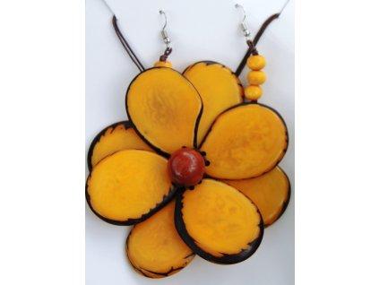 Náhrdelník žlutá květina