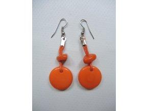 Kulaté se střapcem oranžové