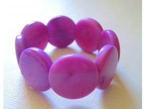 Náramek dětský lentilky fialový