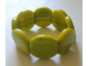 Náramek dětský lentilky olivová zeleň