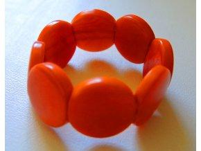 Náramek dětský lentilky oranžový