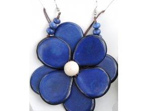 Náhrdelník květina námořnická modř