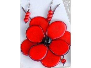 Náhrdelník červená květina