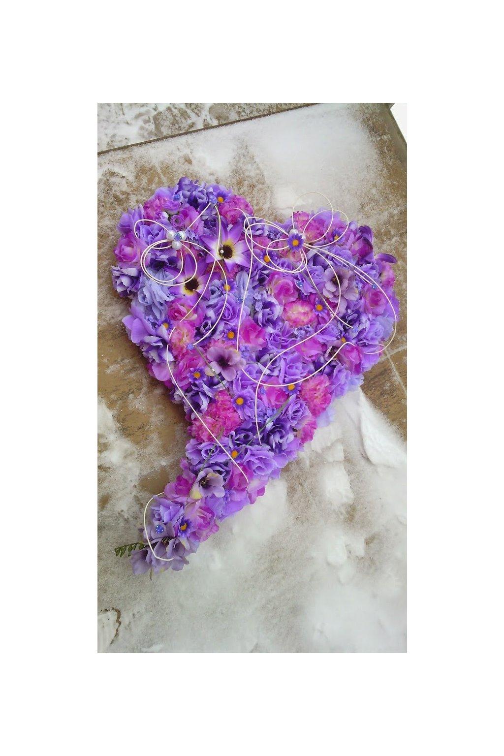 Srdce velké fialové