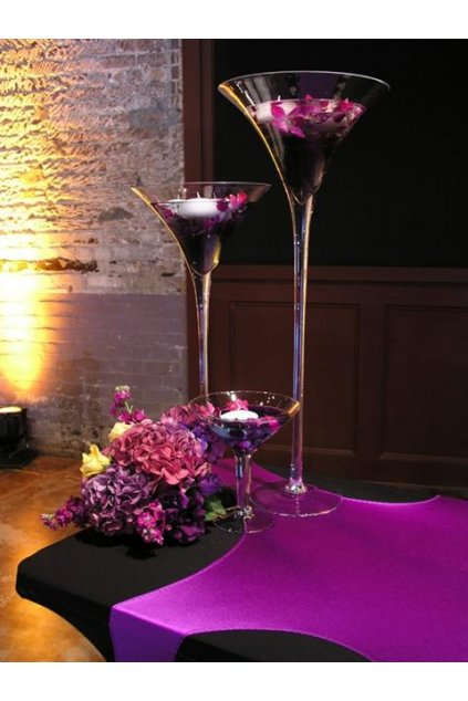Martini glass centerpiece 5