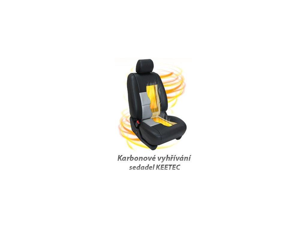 KEETEC CSH 1 karbonové vyhřívaní sedadel