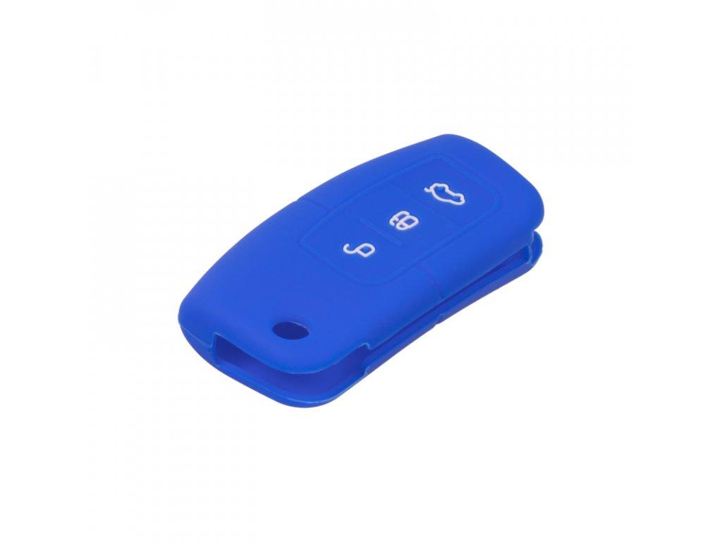 Silikonový obal pro klíč Ford 3-tlačítkový, modrý - 481FO102blu