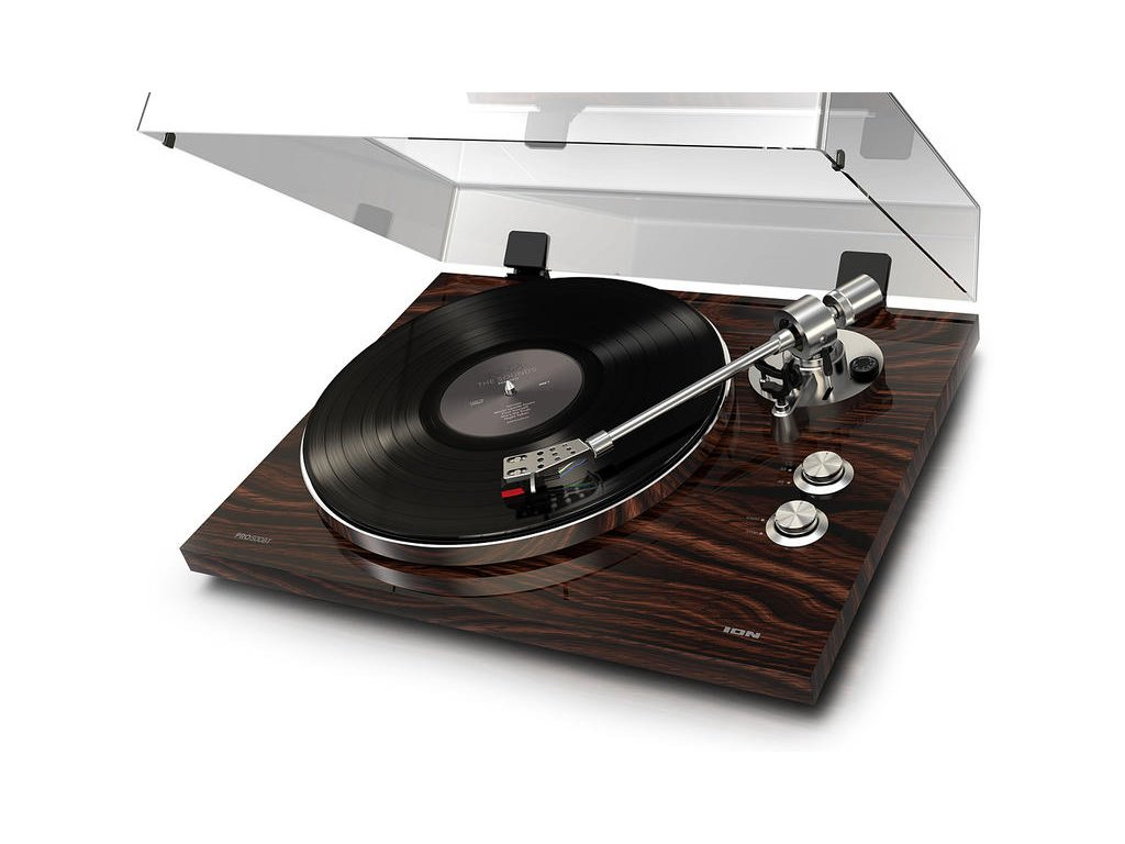 Gramofon s řemínkovým pohonem a vysokým výkonem   PRO500BT WALNUT
