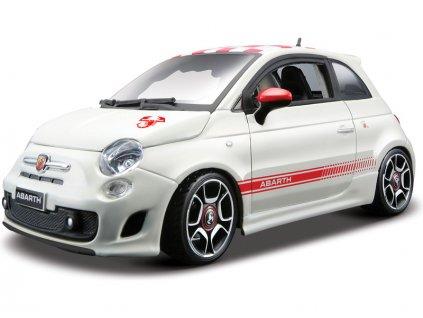 Bburago Kit Fiat Abarth 500 1:24 bílá - BB18-25084
