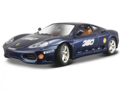 Bburago Ferrari 360 Challenge 1:24 modrá metalíza - BB18-26304